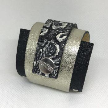 unikatna usnjena zapestnica silverlove fashion evileve