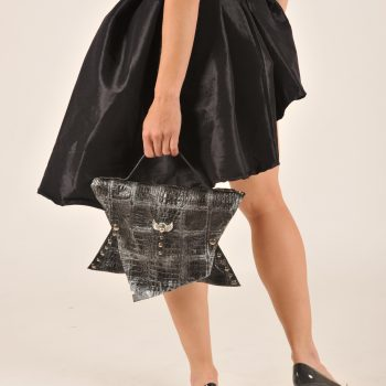unikatna usnjena torbica black angel evileve