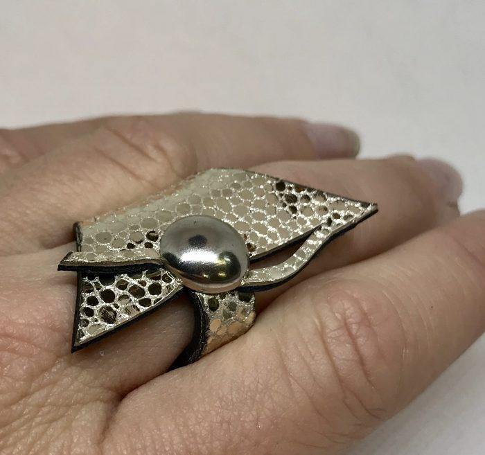 usnjen prstan wish platinum