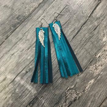 Uhani Fringe Turquoise EvilEve