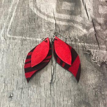 usnjeni uhani red leaves evileve