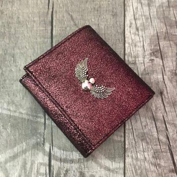 usnjena denarnica evileve chic mini burgundy
