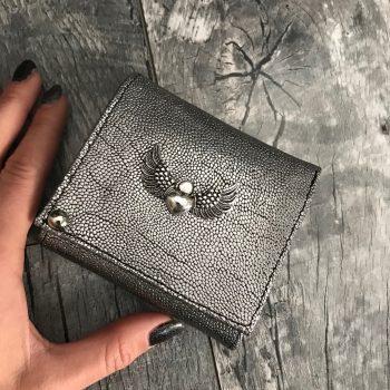 usnjena denarnica evileve chic mini silver