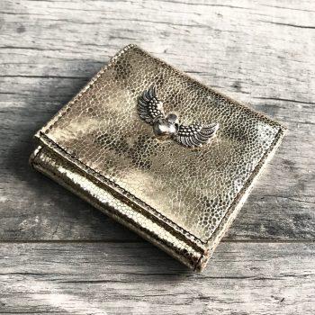 usnjena denarnica evileve chic mini platinum