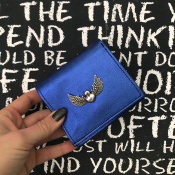 usnjena denarnica chic mini blue evileve
