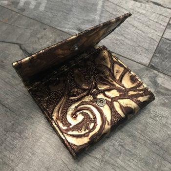 usnjena denarnica chic mini goldie evileve