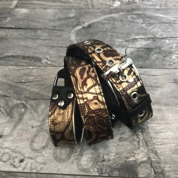 gold leather belt evileve