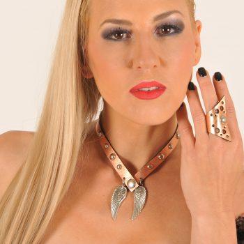 Angelwings Rosegold Black 4v1 dvostranska ogrlica zapestnica