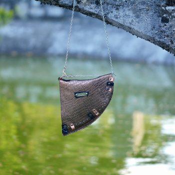 usnjena torbica EvilEve Chic Bronze