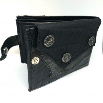 blackstar zero men leather wallet evileve