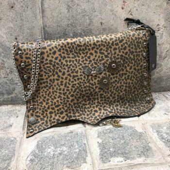 usnjena torbica clutch sugar brownie evileve