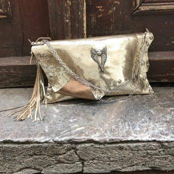 usnjena torbica clutch wish evileve