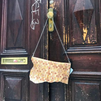 usnjena torbica clutch chic brownie evileve