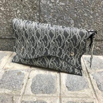 usnjena torbica clutch sugar lace evileve
