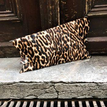 usnjena torbica clutch tiger chic evileve