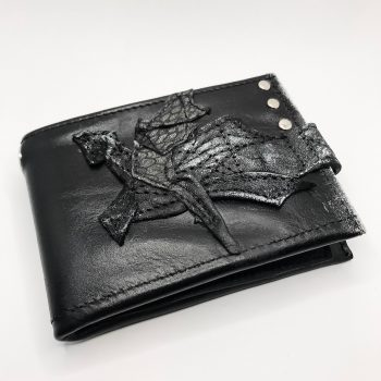 unikatna usnjena moska denarnica blackstar one evileve