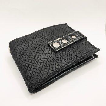 unikatna moska usnjena denarnica blackstar flow evileve
