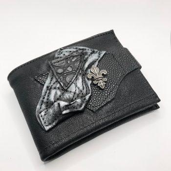 unikatna moska usnjena denarnica blackstar style evileve