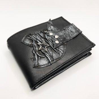 unikatna moska usnjena denarnica blackstar core evileve