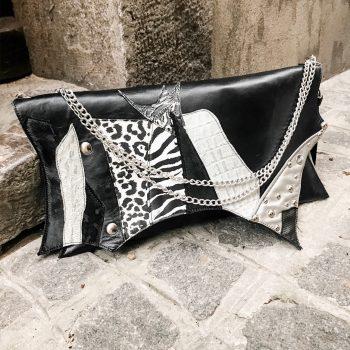 usnjena torbica clutch show evileve