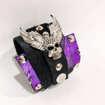 zapestnica navijalka rocker skull evileve