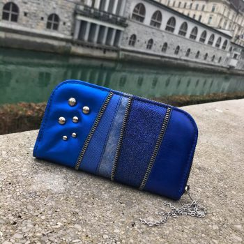 usnjena denarnica rocker blue chic maxi evileve