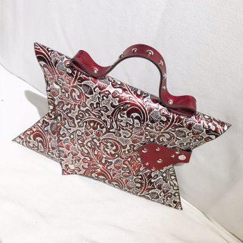 unikatna usnjena torbica clutch carmine angel evileve