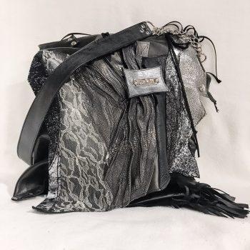 unikatna usnjena torbica tote black secret evileve
