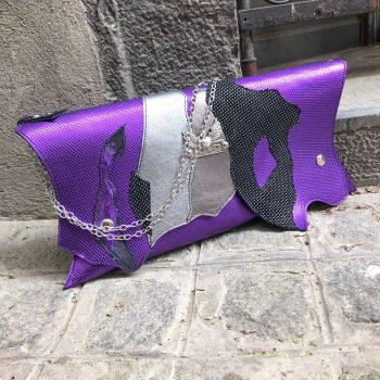 torbica clutch lila chic evileve