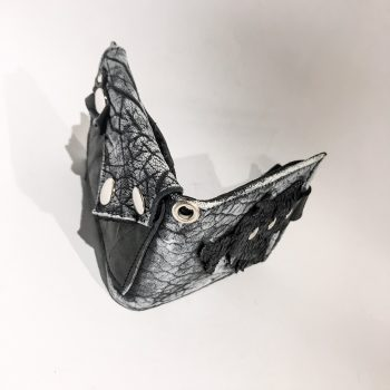 moška usnjena denarnica Blackstar White EvilEve