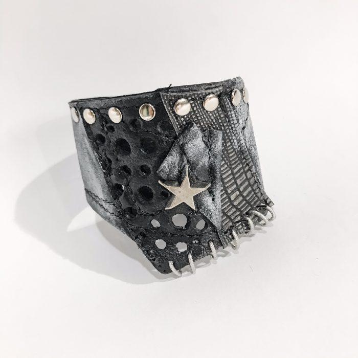 unikatna usnjena zapestnica Rockers Unisex EvilEve