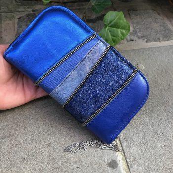 usnjena denarnica Santorini Blue Chic Maxi EvilEve