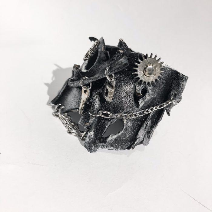 unikatna usnjena zapestnica Steampunk Locket Unisex EvilEve