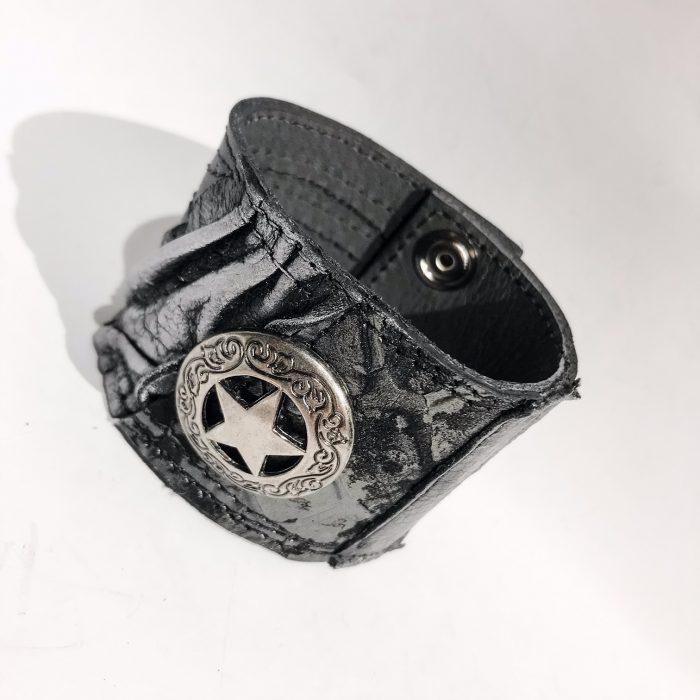 unikatna usnjena zapestnica Stargazer Unisex EvilEve