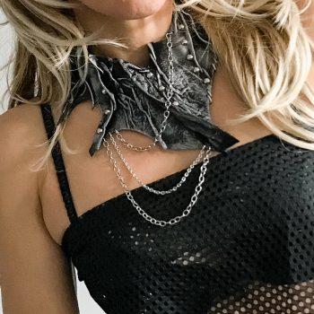 unikatna ogrlica Rockstar Black EvilEve
