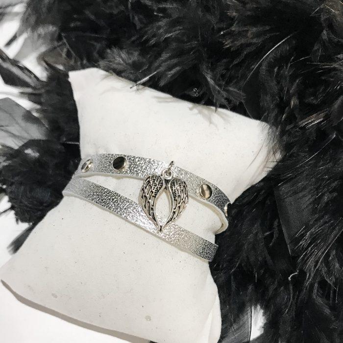 zapestnica Lucky Angel silver EvilEve