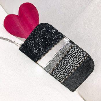 Unikatna usnjena denarnica Black galaxy chic maxi EvilEve