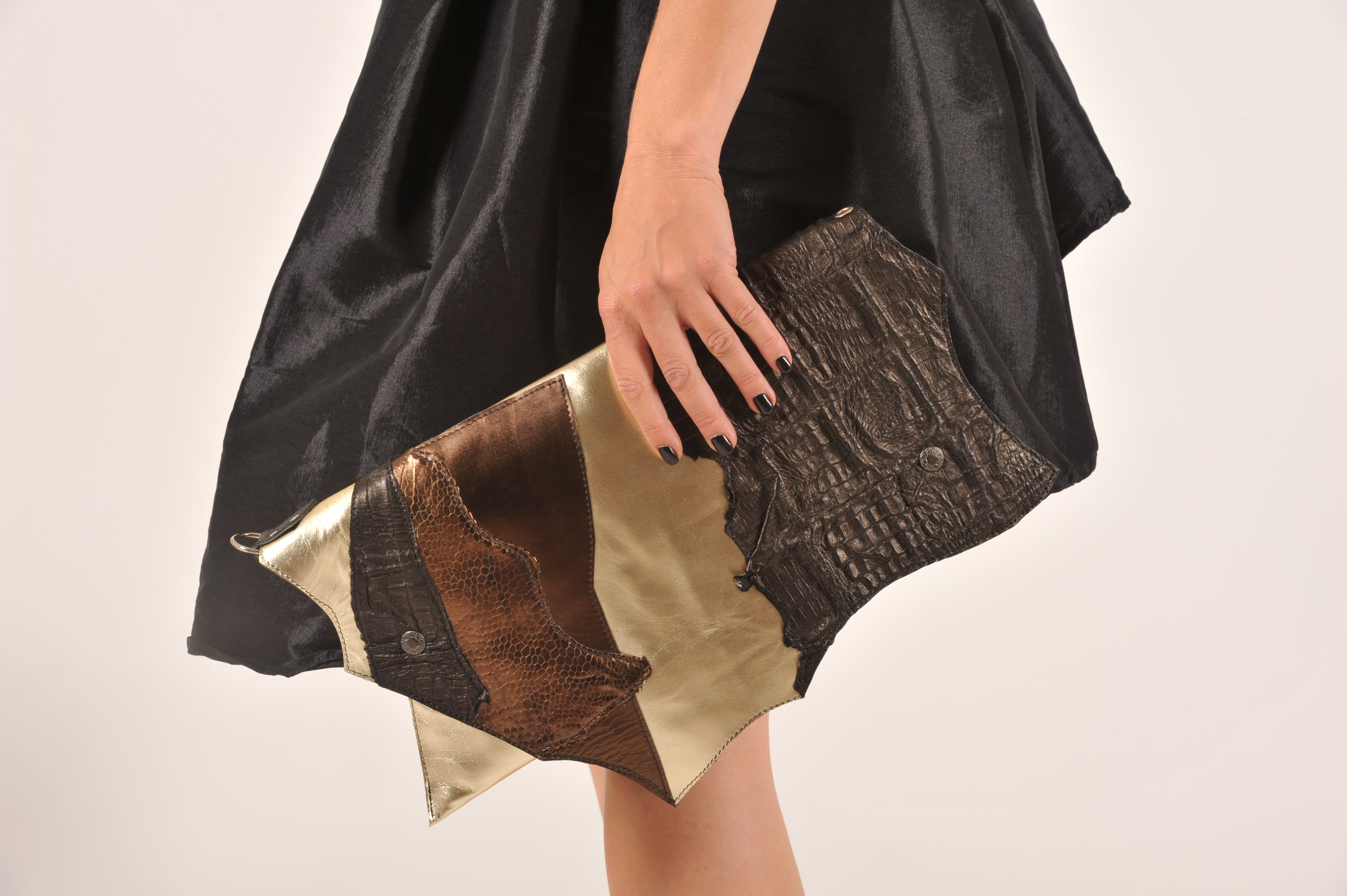 leather clutch evileve CHIC GOLDISH