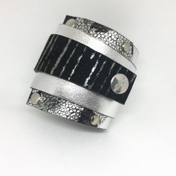 unique leather bracelet silverlove edgy wrap around cuff evileve