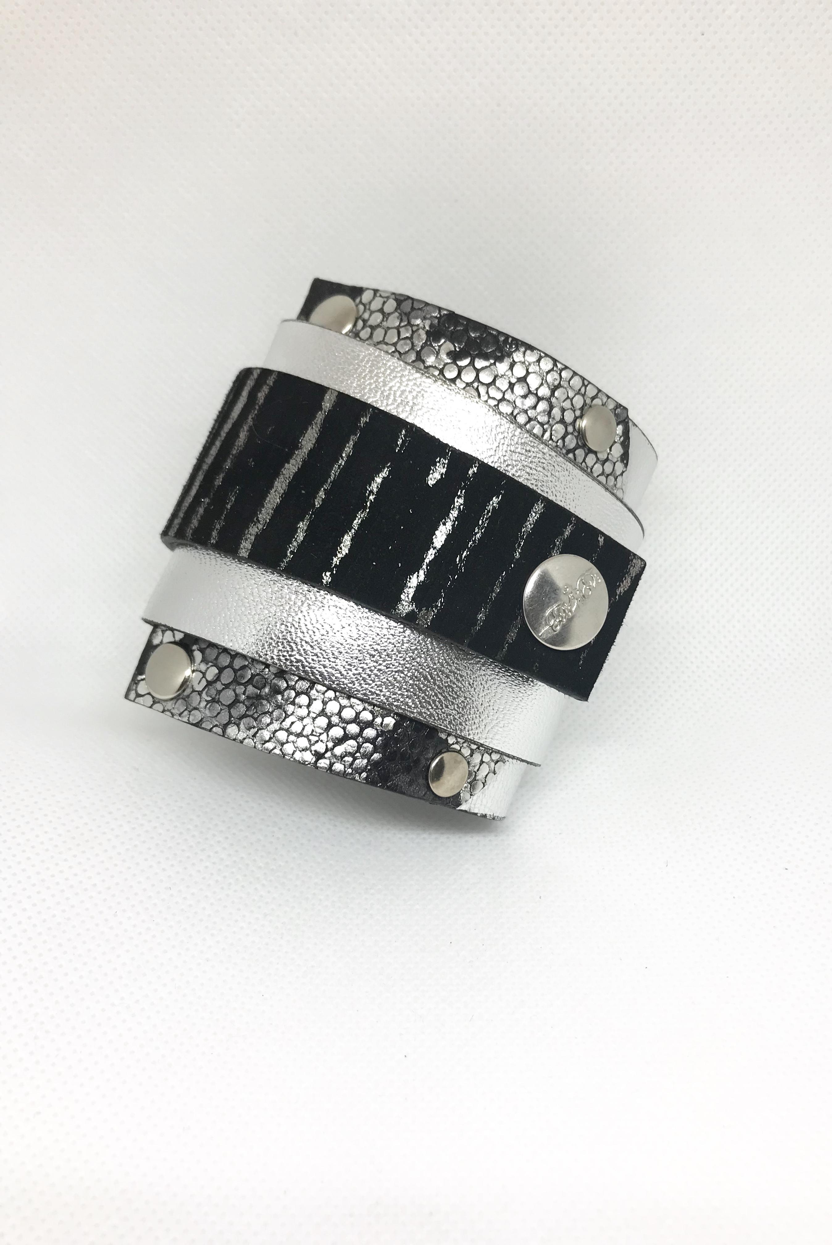unique leather bracelet silverlove edgy wrap around cuff evileve
