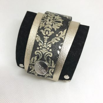 goldenstar classy leather wrap around bracelet evileve