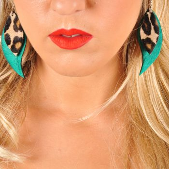 Green tiger cavallino earrings EvilEve