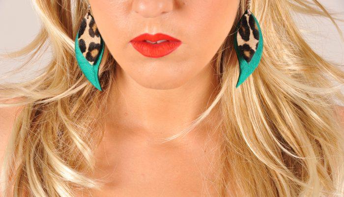 Green tiger cavallino earrings EvilEve