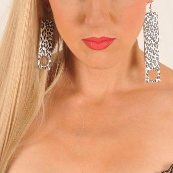 Elegance Leppard earrings EvilEve