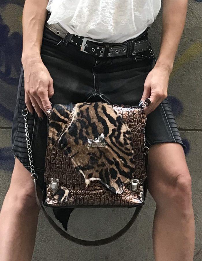 tiger messenger bag evileve