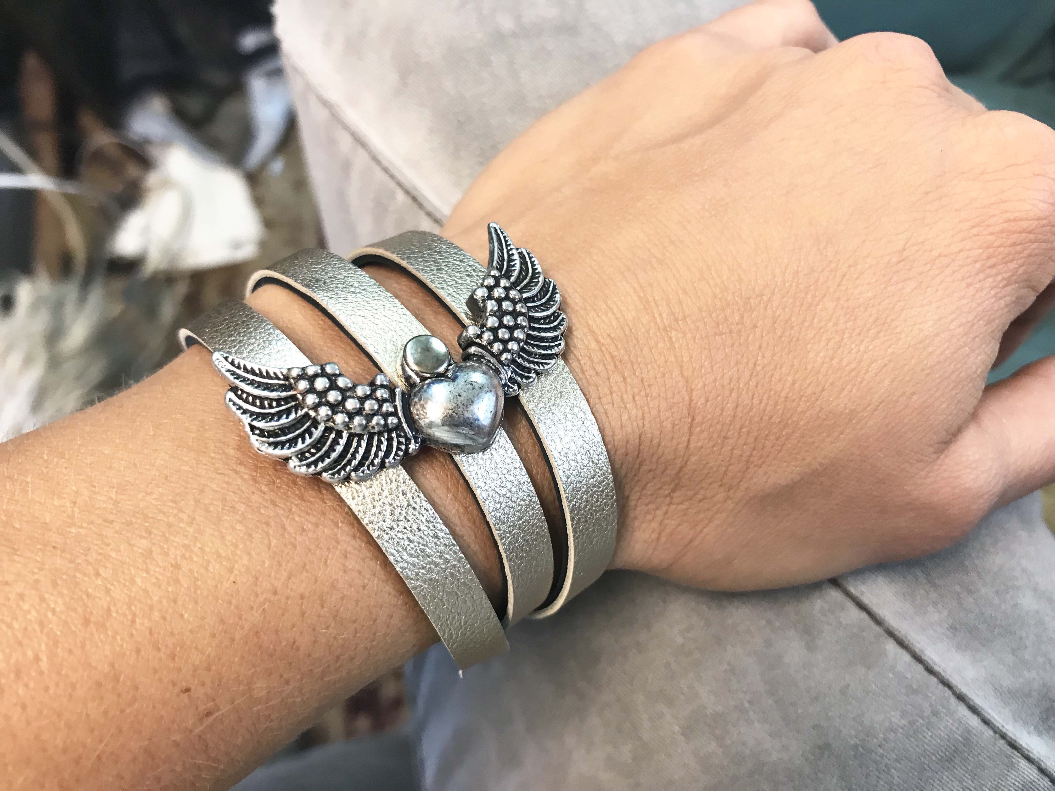 bracelet Angelwings Platinum 2v1 EvilEve