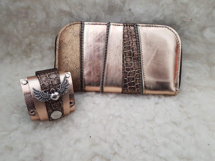 evileve rosegold wallet