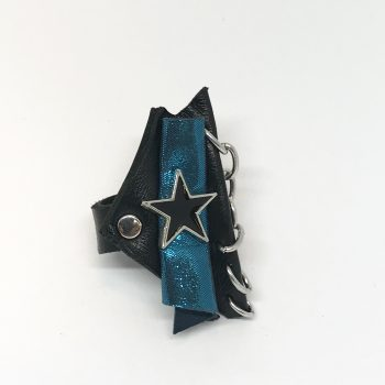 blue star leather ring evileve