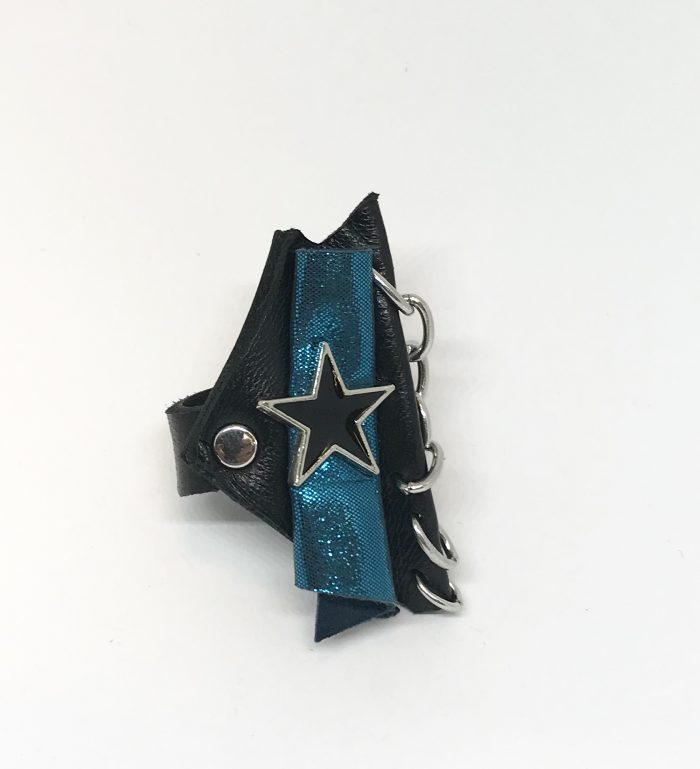 blue star leather ring evileve