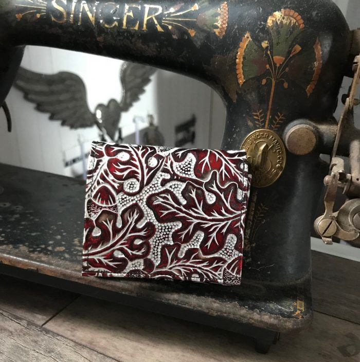 evileve chic mini leather wallet red